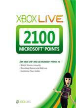 Xbox LIVE EU 2100 Points